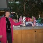 Christine Kearney and raffle prizes Oct 2011