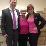 Hazel Brack Pink Day Dunnes Stores Oct 2012