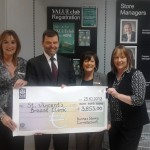 Hazel Brack(on right) Dunnes Stores Pink Day Cheque presentation 2012