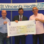 Alan Kinsella and Michael Behan cheque Presenatation June 2014