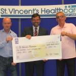 Alan Kinsella and Michael Behan cheque Presenatation June 2014