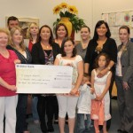 Gabrielle Shannon & Family Cheque Presenation 2010