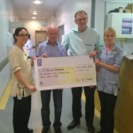 "Alan ""King"" Kinsella cheque presentation June 2014"
