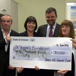 Gill Family cheque presentation to Kay Connolly & John Hickey