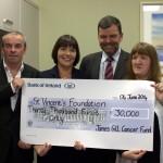 Gill Family cheque presentation to Kay Connolly & John Hickey