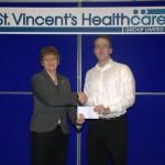 Conor Cashman cheque presentation Dec 2011