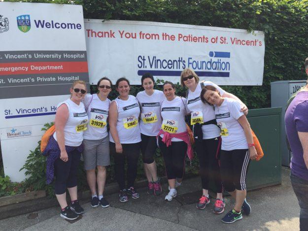 Liver Unit staff taking part in 2016 Women's Mini Marathon